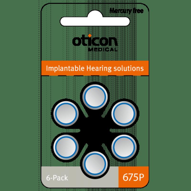 60 Piles 675P pour Implant Cochléaire