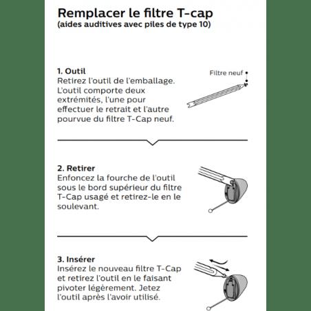 Filtres Micro Oticon T-Cap