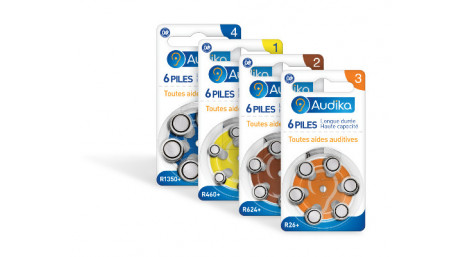 Piles Auditives Audika, Accus Z Power, Power One - Audika.fr